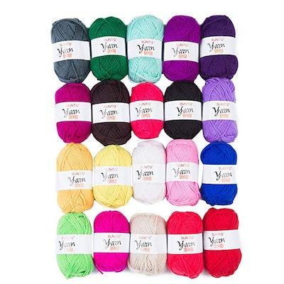 Colored Acrylic Yarn