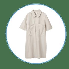 Front-Zip Shirt Dress