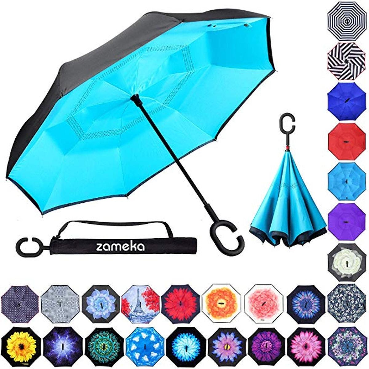 ZAMEKA Double Layer Inverted Umbrella