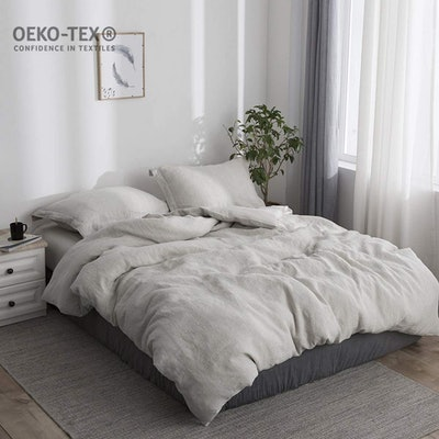 Simple&Opulence 100% Stone Washed Linen Duvet Cover Sets