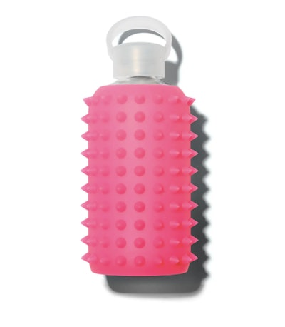 bkr Glass Water Bottle, Spiked Rosy, 500 mL