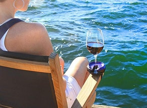SunChaser Three-In-One Wine Glass Holder