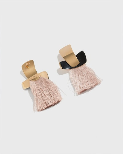 Blush Totem Tassel Earrings