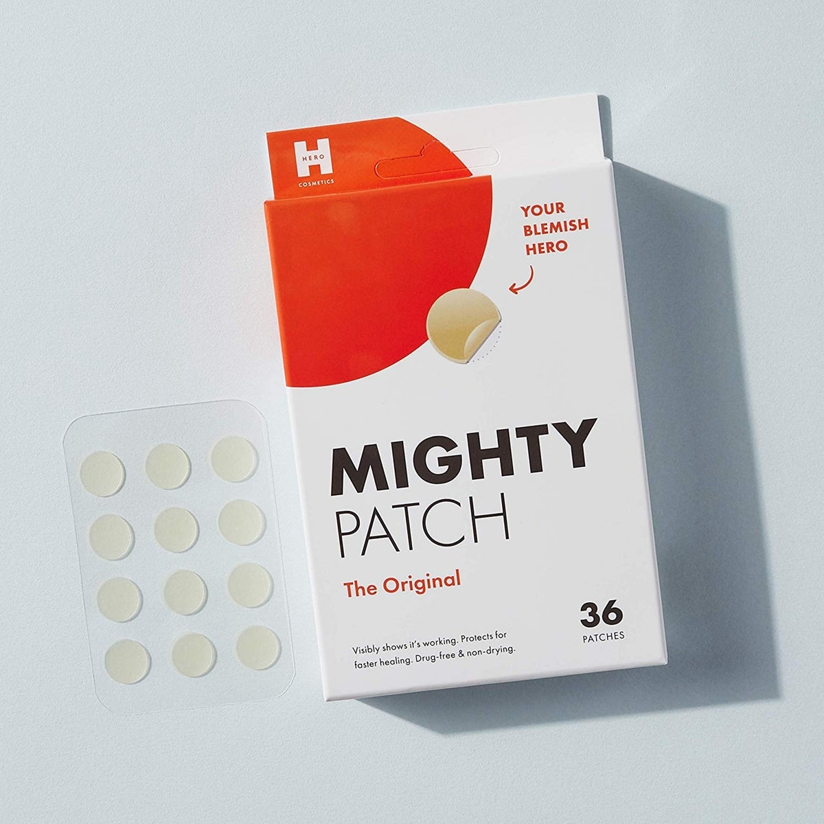 Mighty Patch Original Hydrocolloid Acne Pimple Patch Spot Treatment (36-Pack)