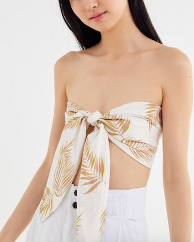 Sincerely Yours Tie-Front Bandeau Top