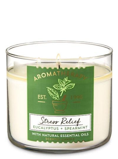 Aromatherapy Eucalyptus Spearmint 3-Wick Candle