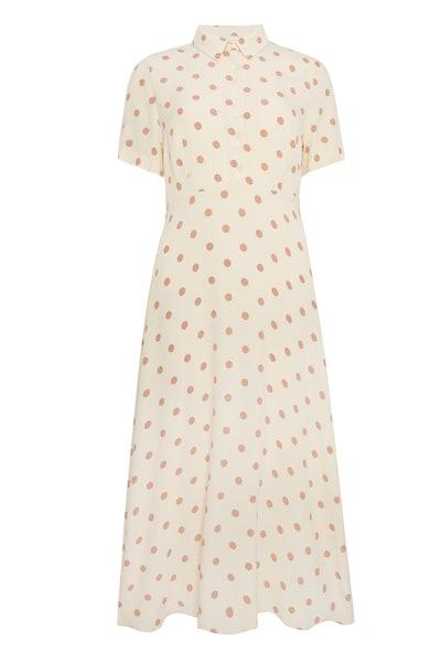 F&F Neutral Spot Belted Shirt Dress