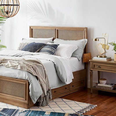Stone & Beam Reversible Marcana Linen Duvet Comforter Cover Set
