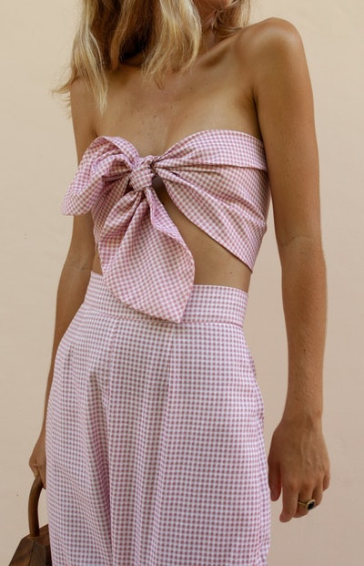 Micky Bandeau - Pink Gingham