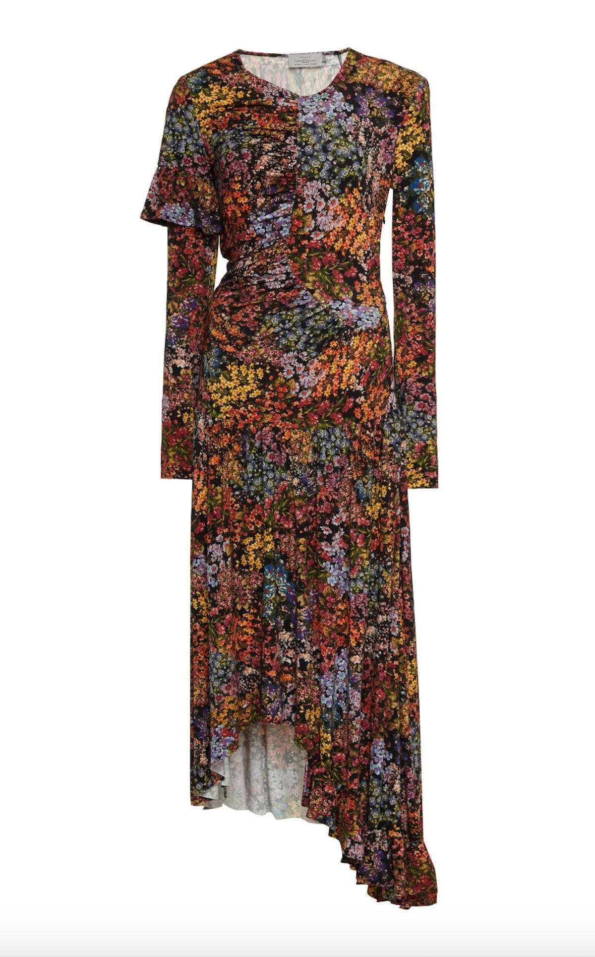 Ashley Floral-Print Stretch-Crepe Maxi Dress