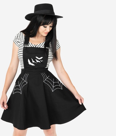 Spiderweb & Bats Miss Muffet Pinafore Dress