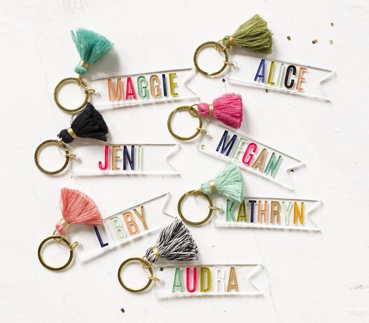 Personalized Acrylic Name Keychain