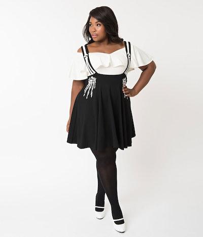 Skeleton Stockard Suspender Skirt