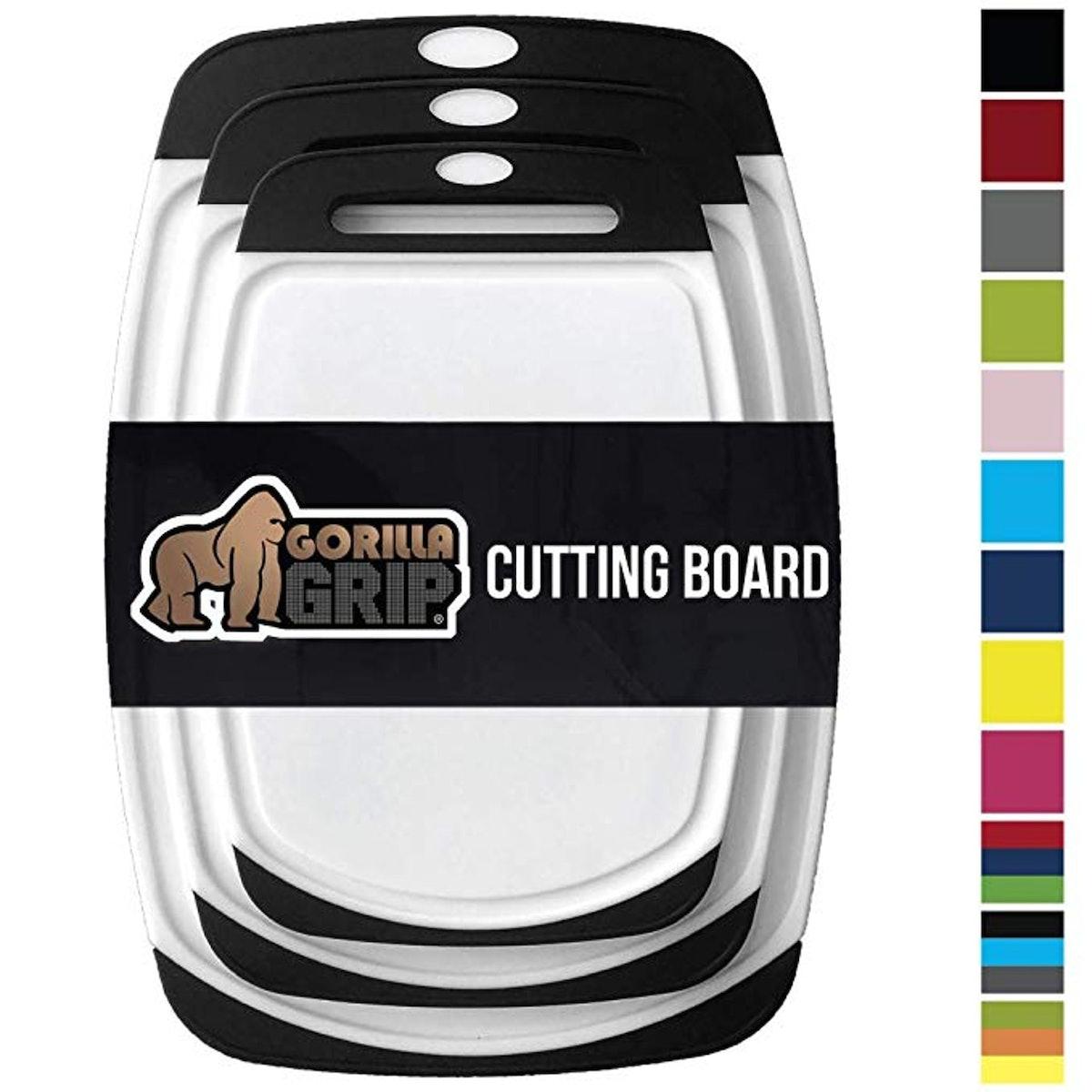 Gorilla Grip Original Reversible Cutting Board (3-Pack)