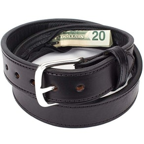 Yoder Leather Company Hidden Pocket Belt