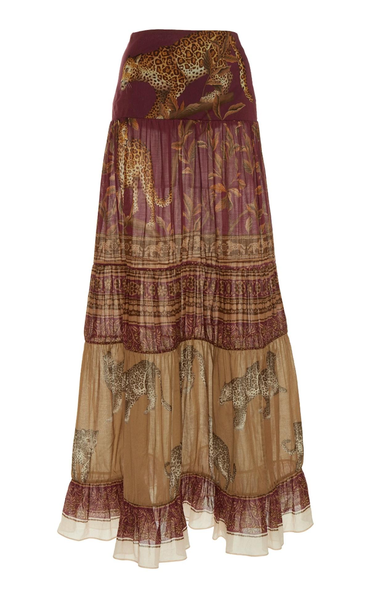 The Last Kashmiri Rose Printed Cotton Maxi Skirt