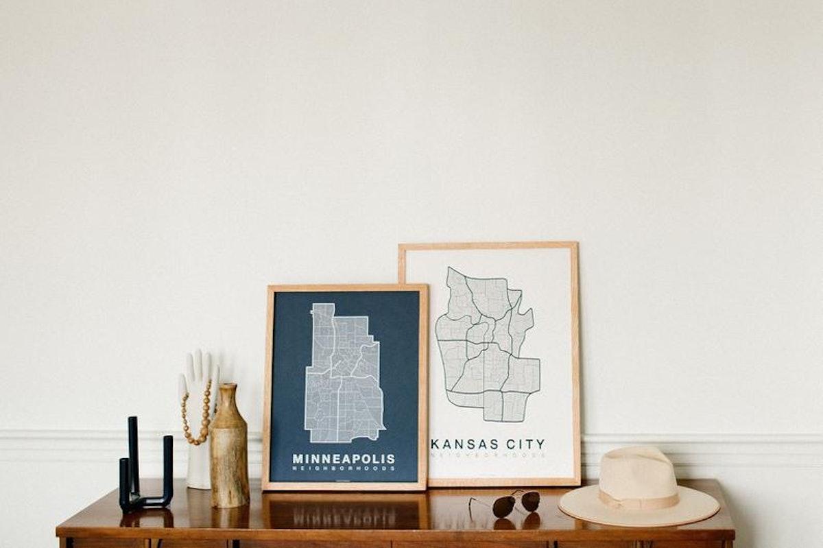 Screen Print Poster Neighborhood Map