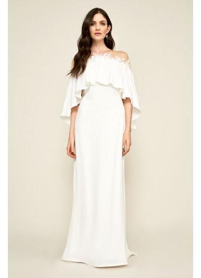 Tadashi Shoji Capelet Athenia Wedding Dress