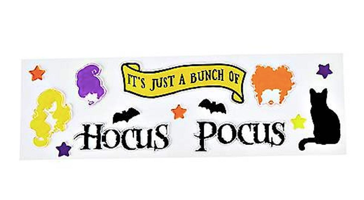 Bunch of Hocus Pocus Gel Window Cling