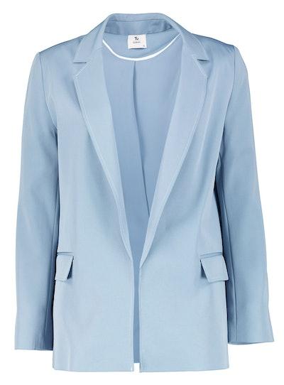 Blue Contrast Stitch Blazer