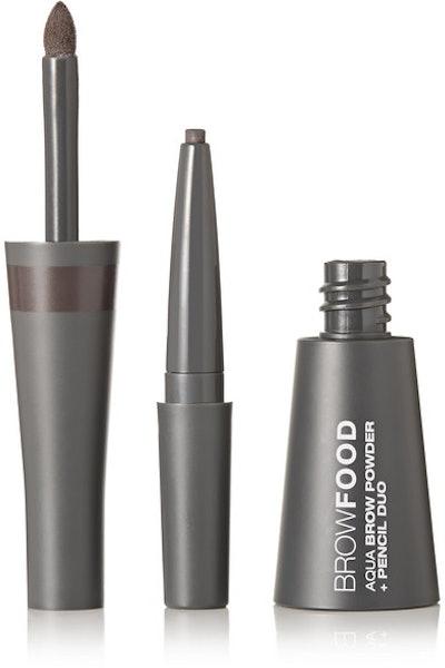 BrowFood Aqua Brow Powder + Pencil Duo - Taupe