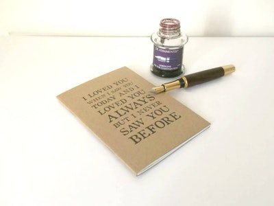 Set of Love Quote Notebooks