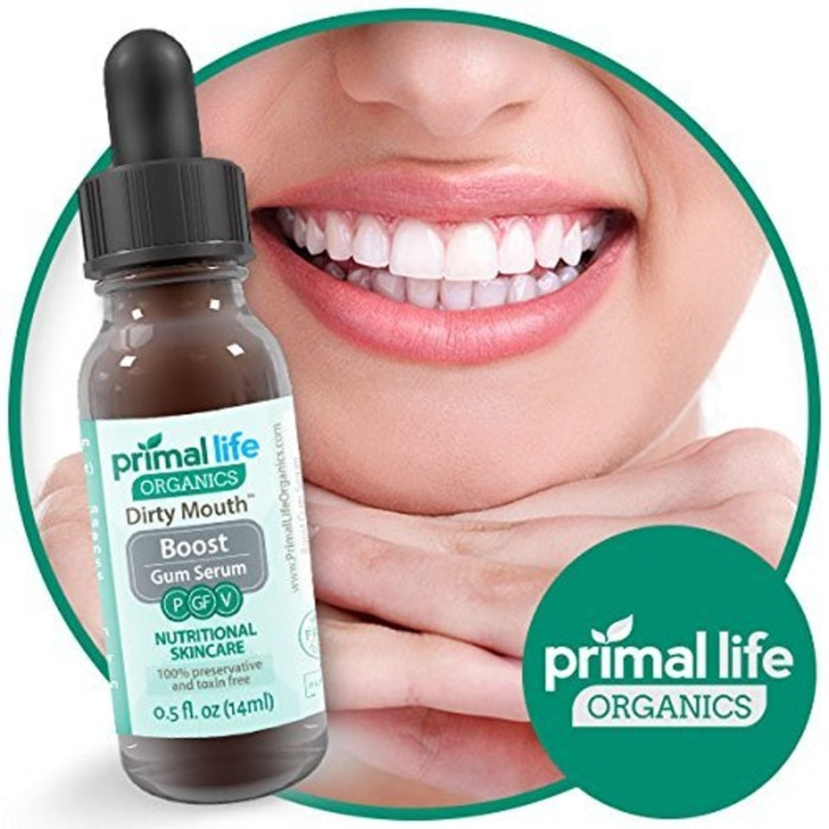 Primal Life Organics Natural Mouthwash Gum Serum