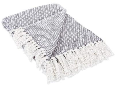 Dll Cotton Basket Weave Throw