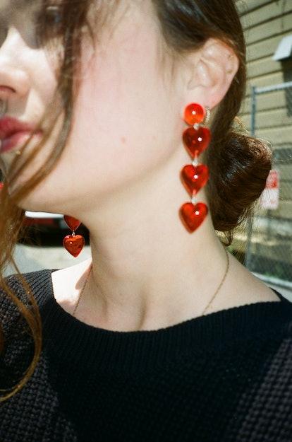 Never Tear Us Apart Heart Drop Earrings