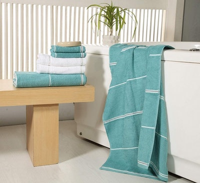 Avira Home Textured Towel Set (Set of 6)