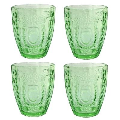 La Jolie Muse Embossed Drinking Glasses (Set of 4)