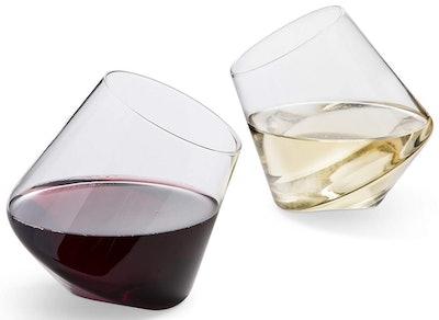 Veracity & Verve Stemless Wine Glasses (Set of 2)