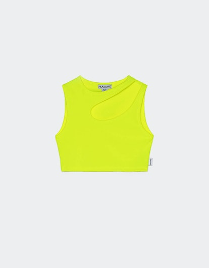 Bershka + PANTONE cut-out T-shirt