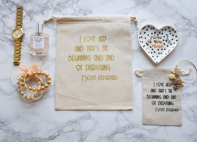 F. Scott Fitzgerald Quote Bags
