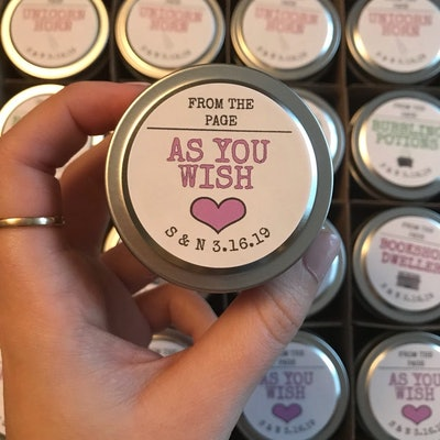 72 2oz Bookish Soy Candles - Party/Wedding Favors