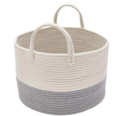 DOKEHOM Large Cotton Rope Basket