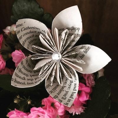 Origami Kusudama Book Page Flower