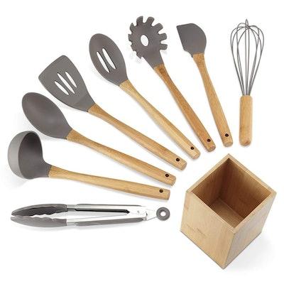 NEXGADGET Silicone Kitchen Utensil Set (9 Pieces)