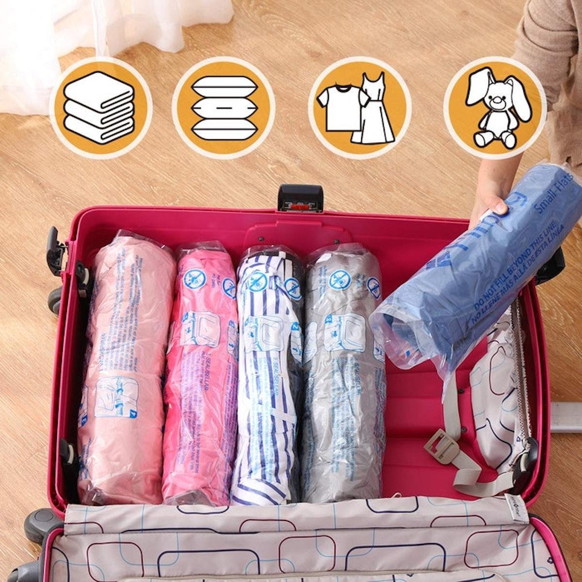 Hibag Travel Compression Bags (12 Pack)