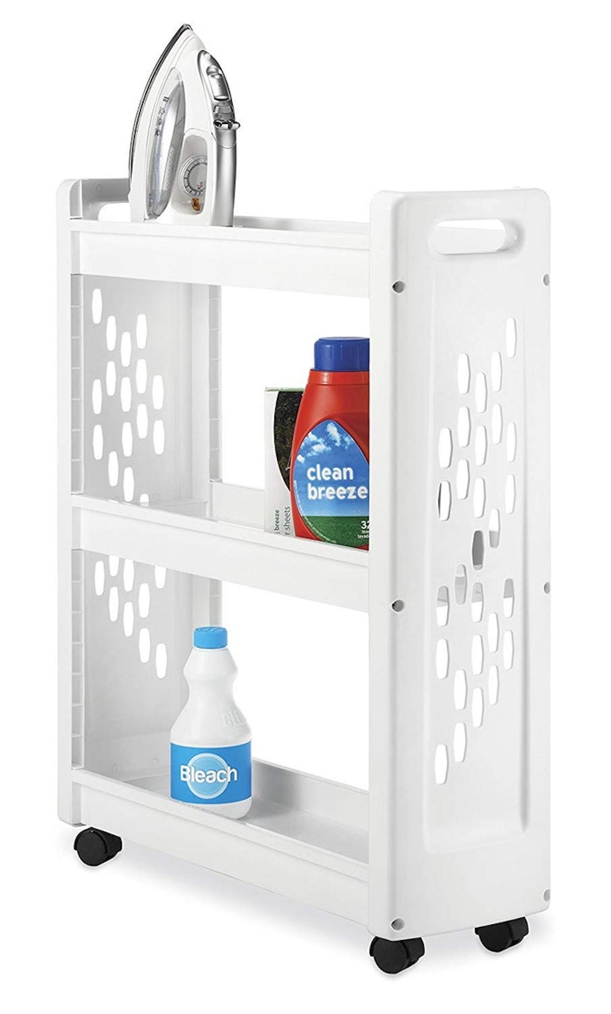 Whitmor 3 Tier Rolling Laundry Cart