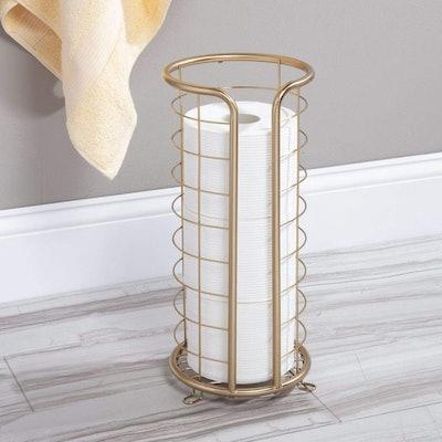 mDesign Freestanding Toilet Paper Holder