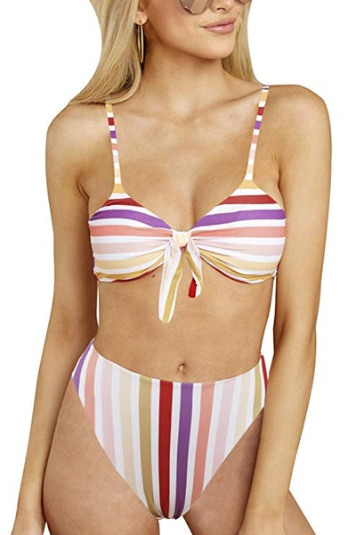Blooming Jelly High-Waisted Bikini