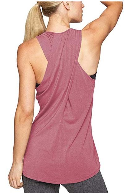 Mippo Women's Cross-Back Yoga Shirt