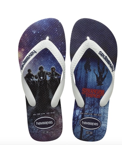 'Stranger Things' Blue Flip Flops