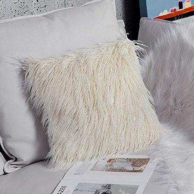 Ojia Magnollian Faux Fur Pillow Cover
