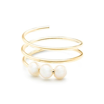 Troika Spiral Knuckle Ring Yellow Gold