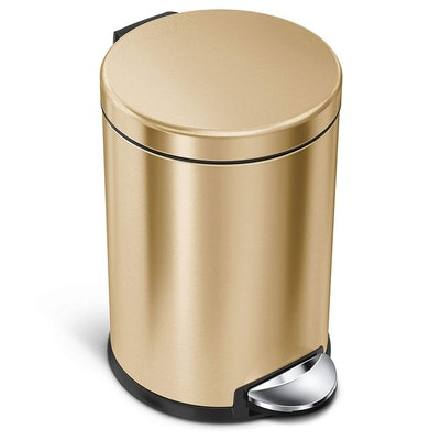 simplehuman Brass Bathroom Trash Can