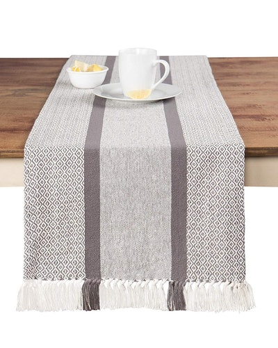 Sticky Toffee Woven Table Runner