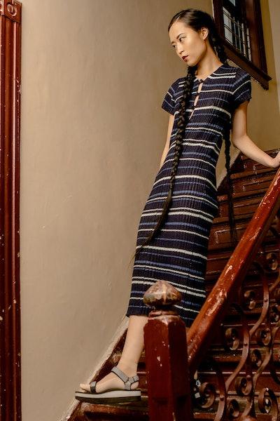 Rib Tee Maxi Dress
