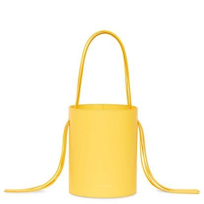 Calf Fringe Bucket Bag